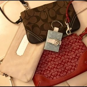 Authentic Coach Wristlet & Keychain Bundle